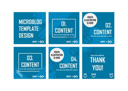 Social media and microblog template design.