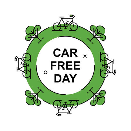 Care free day campaign illustration. Easy to edit with vector file. Can use for your creative content. Especially about nature and healthy life style