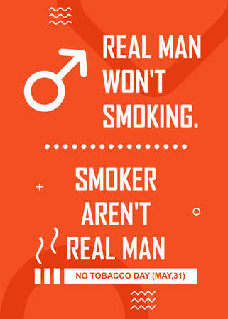 No tobacco quotes poster design. Easy to edit with vector file. Can use for your creative content. Especially about no tobacco day campaign in this may.