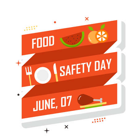 Food safety banner illustration. Easy to edit vector file. Can use for your creative content. Especially about food safety day campaign in this june.