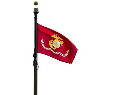 U.S. Marine Corps flag on a white background.