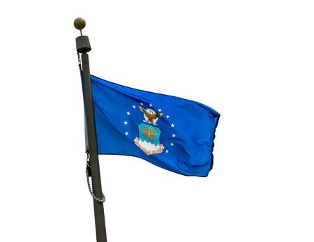 U.S. Air Force flag on a white background. Редакционное