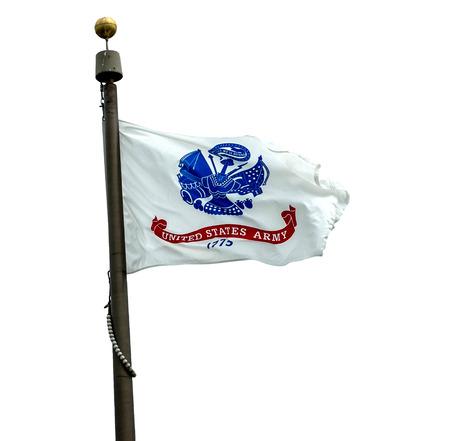 U.S. Army flag on a white background.