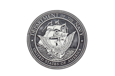 U.S. Navy  official seal on a white background. Stok Fotoğraf - 82389697