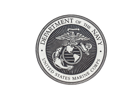 U.S. Marine Corps  official seal on a white background.