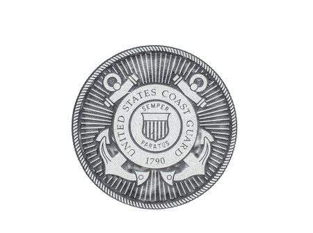 U.S. Coast Guard official seal on a white background.