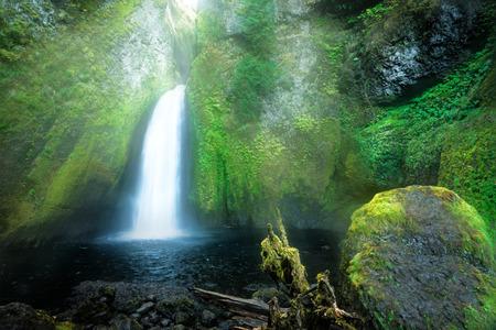 Wahclella Falls, Columbia River Gorge, Oregon.
