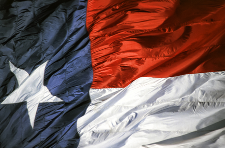 Closeup of the Texas state flag.