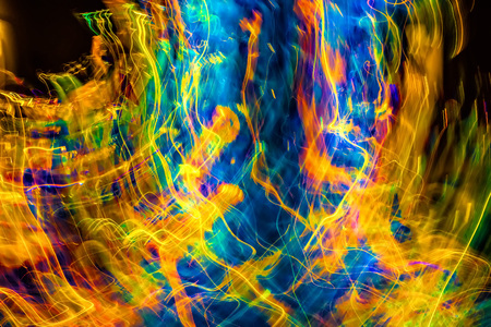Abstract  lights in motion with multiple swirling colors.. Banco de Imagens - 86267488