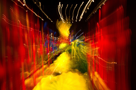 Abstract photo with multiple color lights in motion