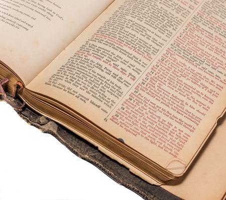 Old Bible open to John 3:16