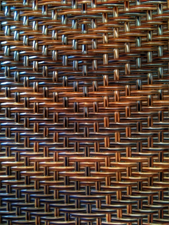 traditional textured: Brown handmade rattan thread pattern