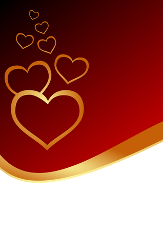 cordial: Greeting card with hearts