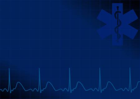 Blue medical background Stock Vector - 8057322