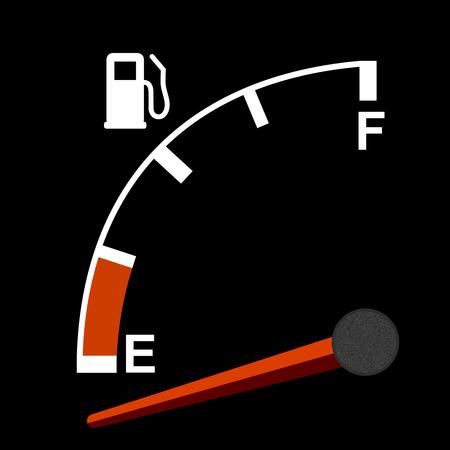 petrol pump: Gas gauge
