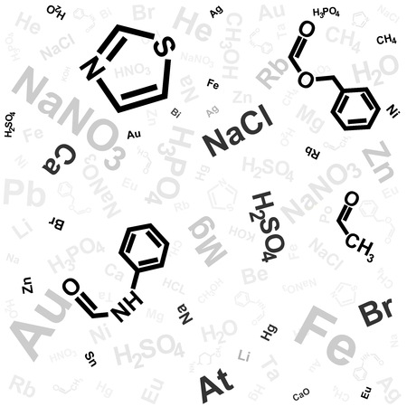 computation: abstract background with chemical formula