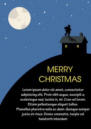 지붕에 행동에 산타 클로스