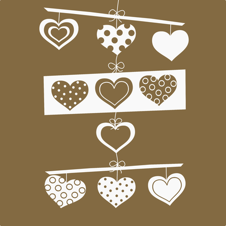 vector love background with heart Vector