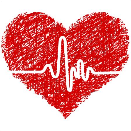 ritme: hart met cardiogram