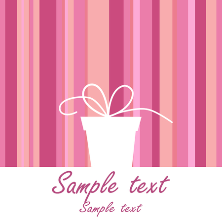 gift wrapping: background with gift box