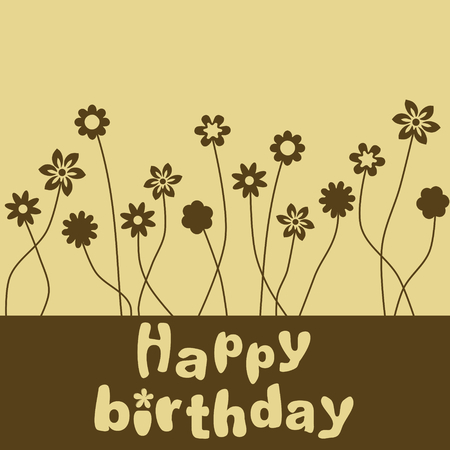 birthday flowers: Gelukkige verjaardag bloemen