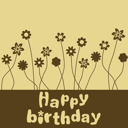 Happy birthday flowers Imagens - 8102782