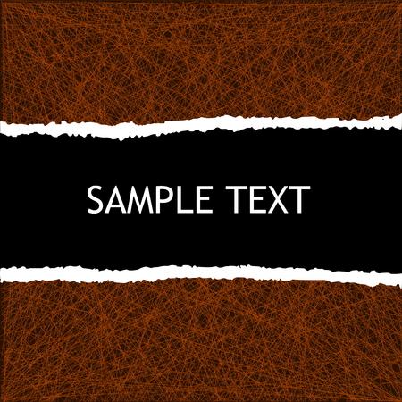 cartone strappato: sfondo con copyspace nero e il bordo di carta strappato