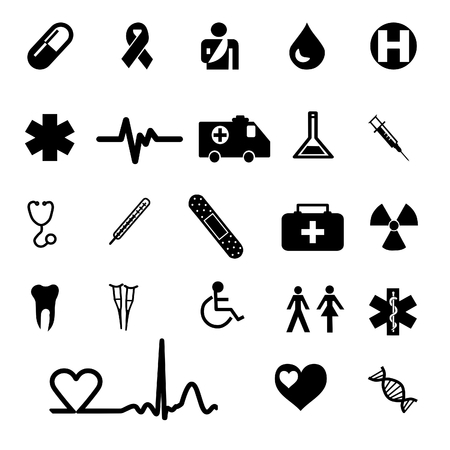 medical icons set Stock Vector - 8102785