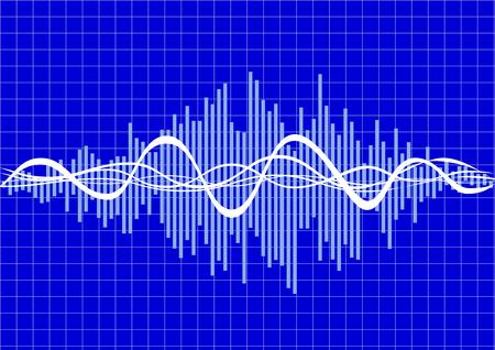 ola de música de vector