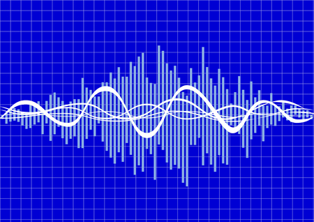 audio wave: vector music wave