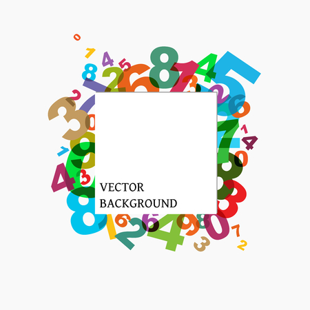 numbers background Stock Vector - 8102799