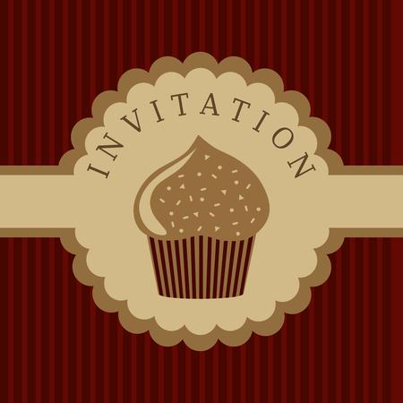 cupcake invitation background Imagens - 8102765