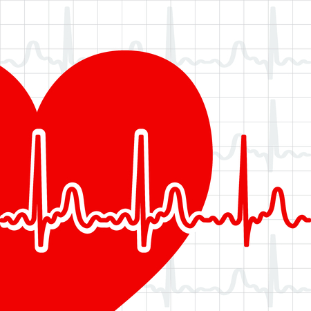 Heart cardiogram Stock Vector - 8102797