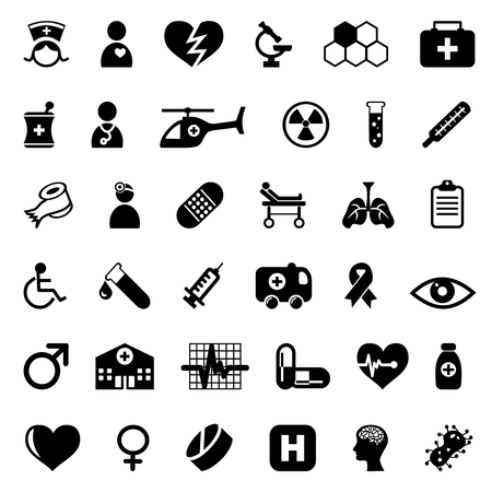 medical icons set Stock Vector - 8102798