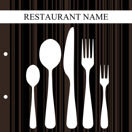 bistro: Retro restaurant design Illustration