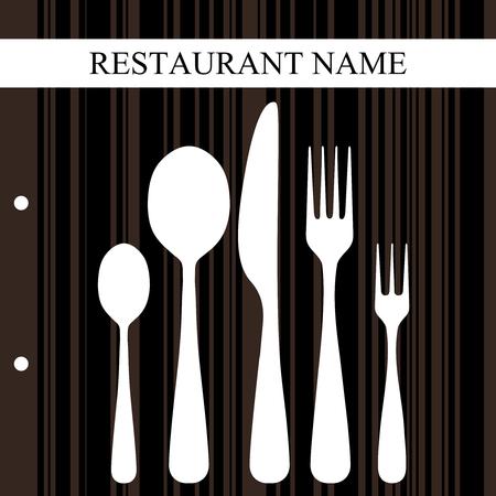 silverware: Retro restaurant design Illustration
