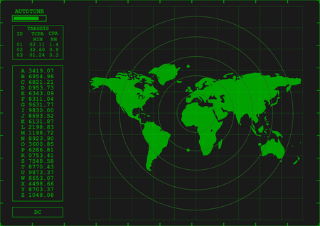 녹색 레이더 스크린 일러스트