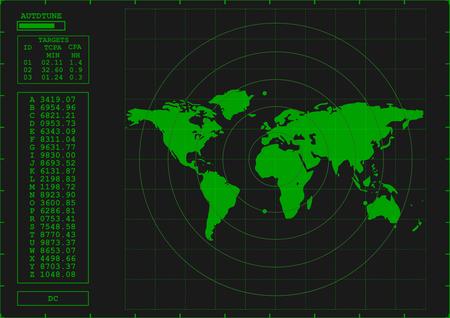 green radar screen Stock Vector - 8102816
