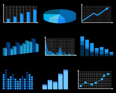 grafico vendite: Grafici di affari Vettoriali