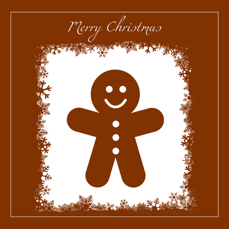 greeting with gingerbread cookie Stock Vector - 8251399