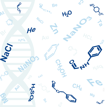 abstract background with chemical formula Vector