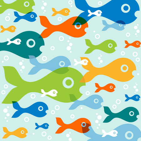 background with fish Stock Vector - 8303601