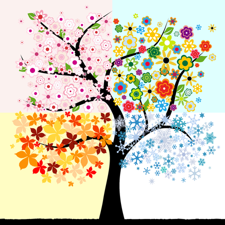 Four season tree Stock Vector - 8407193