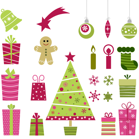 cute christmas: cute christmas collection Illustration