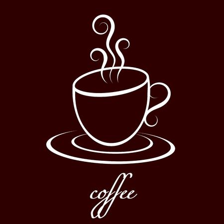 커피 한 잔 일러스트