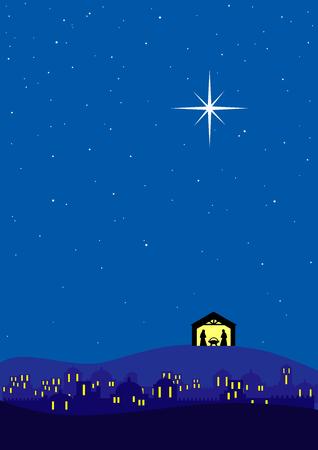 Bethlehem christmas background Stock Vector - 8454187