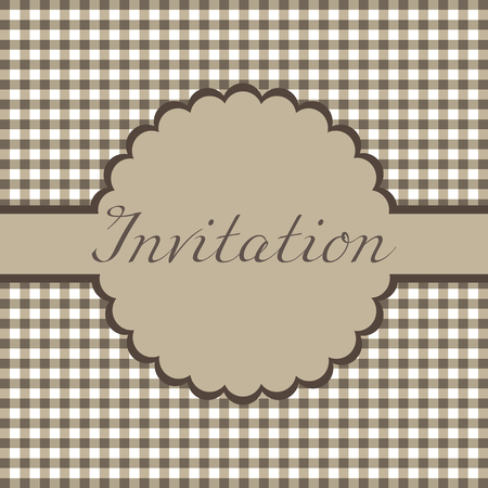 Template frame design for invitation card