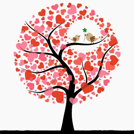Beautiful birds in love Stock Vector - 8898950