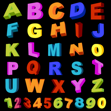 full alphabet with numerals Stock Vector - 8984472