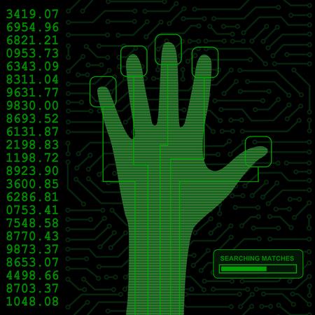 empreintes digitales: scanner de s�curit� main